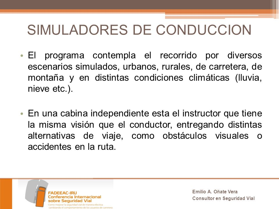 SIMULADORES DE CONDUCCION