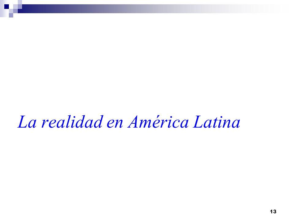 La realidad en América Latina