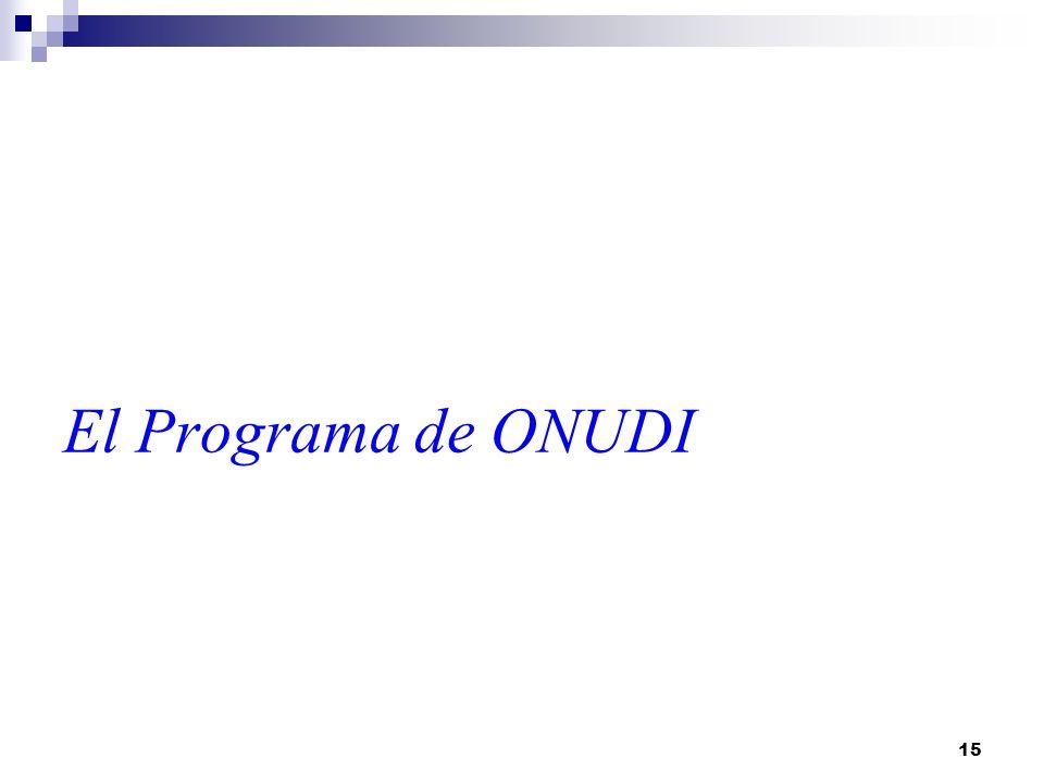El Programa de ONUDI