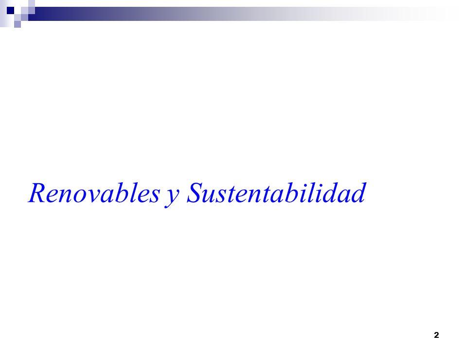 Renovables y Sustentabilidad