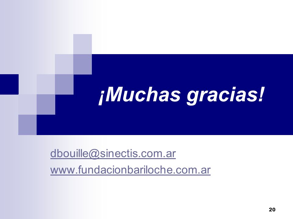 dbouille@sinectis.com.ar www.fundacionbariloche.com.ar