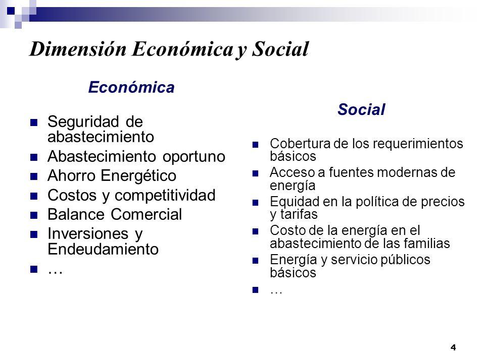 Dimensión Económica y Social