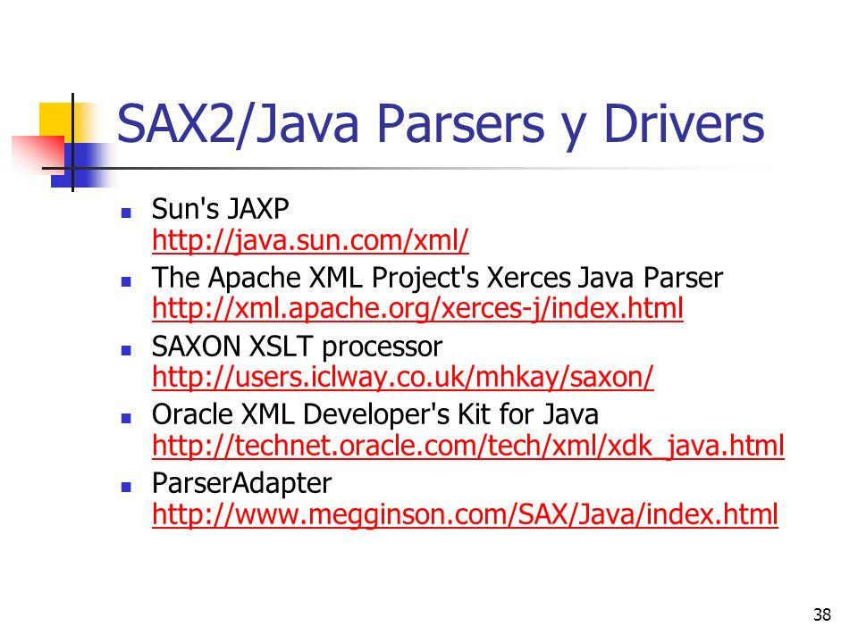 SAX2/Java Parsers y Drivers