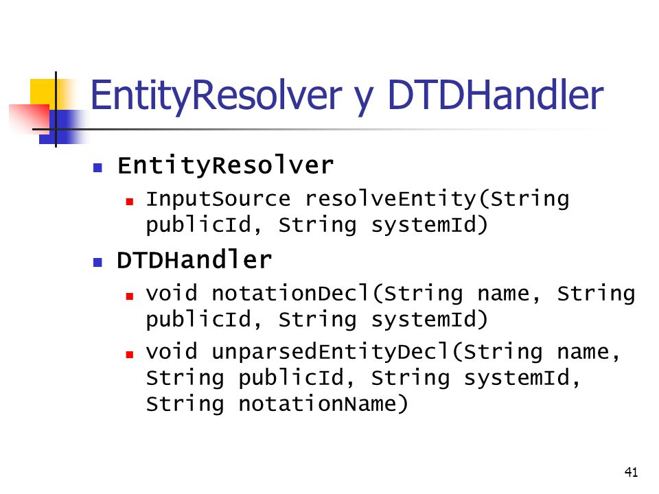 EntityResolver y DTDHandler