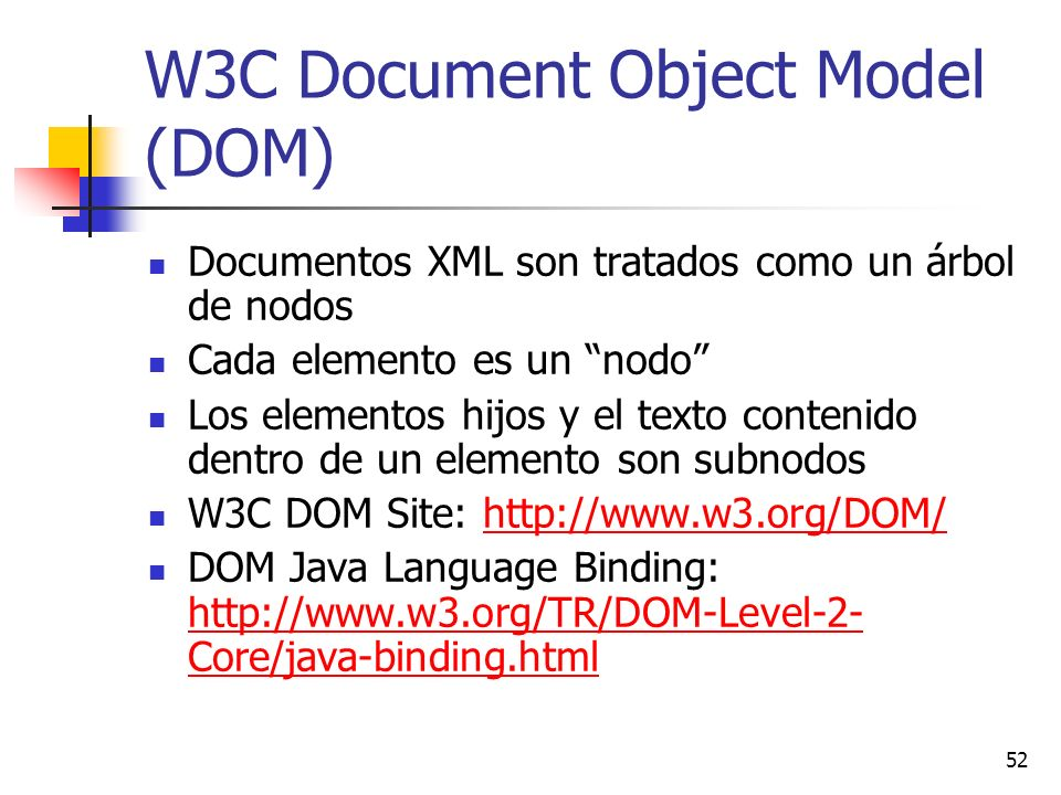 W3C Document Object Model (DOM)