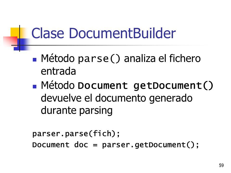 Clase DocumentBuilder