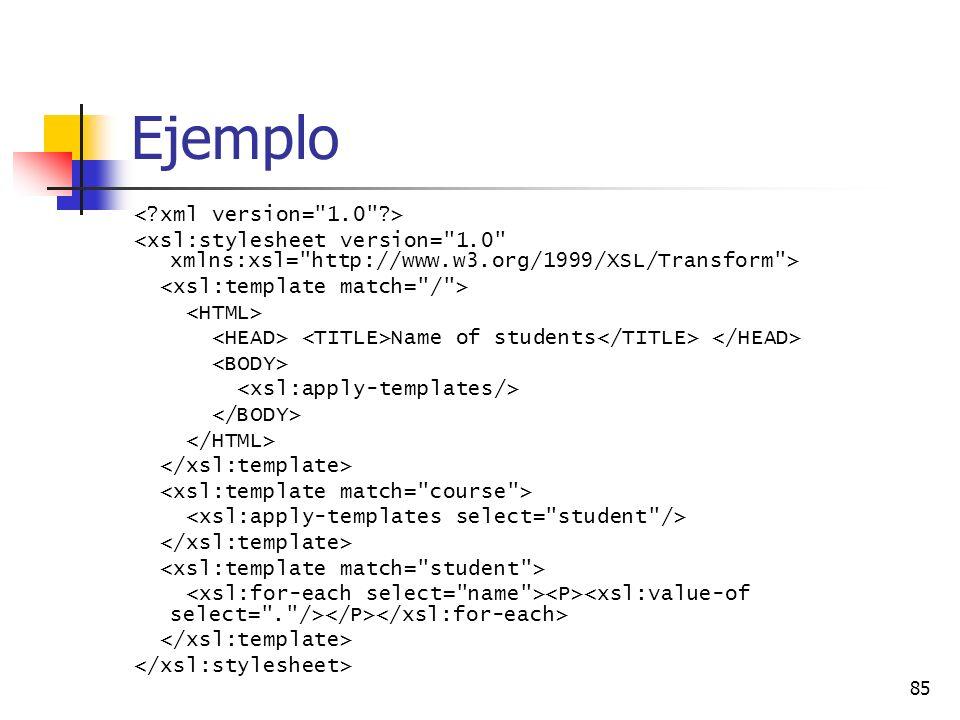 Ejemplo < xml version= 1.0 >