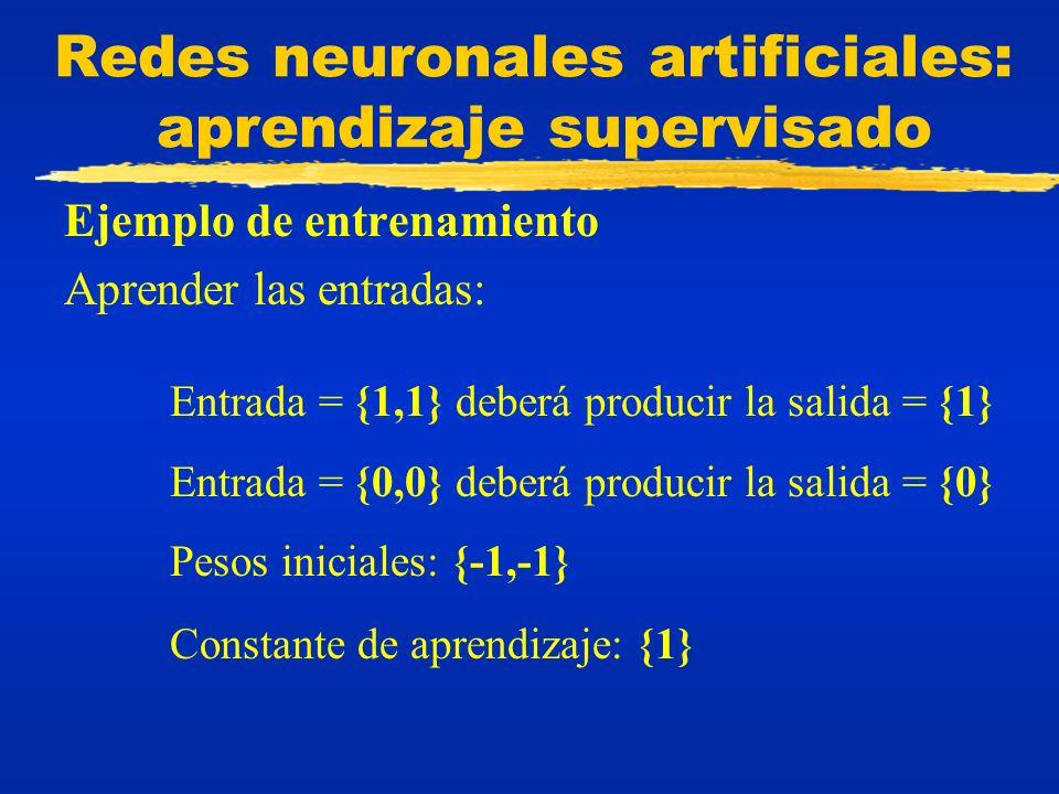 Redes neuronales artificiales: aprendizaje supervisado