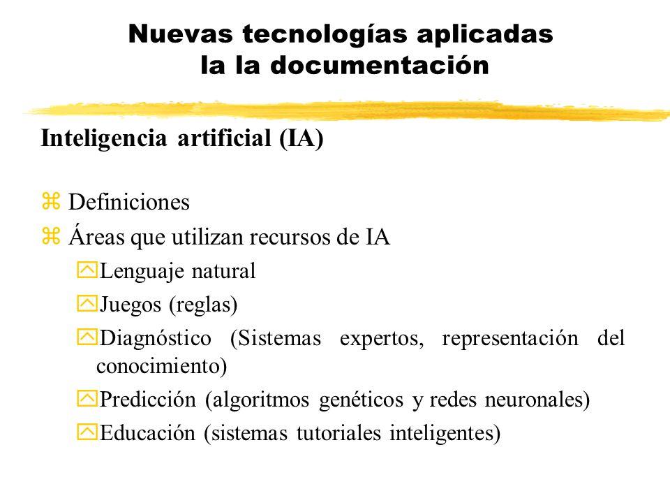 Nuevas tecnologías aplicadas la la documentación