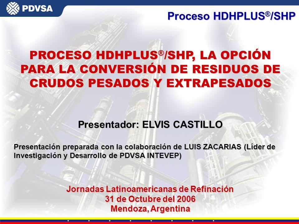 Presentador: ELVIS CASTILLO Jornadas Latinoamericanas de Refinación