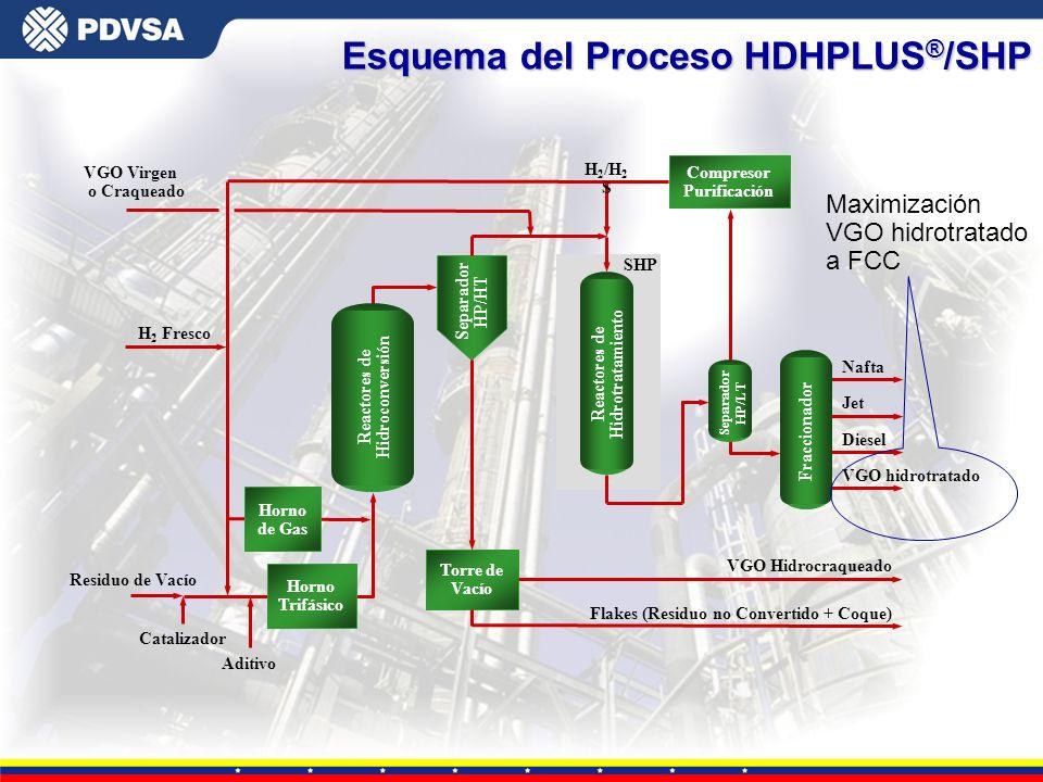 Esquema del Proceso HDHPLUS®/SHP