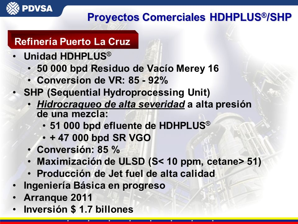 Proyectos Comerciales HDHPLUS®/SHP
