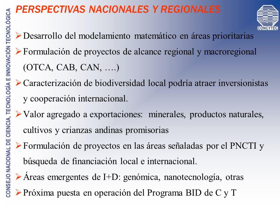 PERSPECTIVAS NACIONALES Y REGIONALES