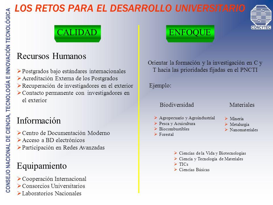 LOS RETOS PARA EL DESARROLLO UNIVERSITARIO