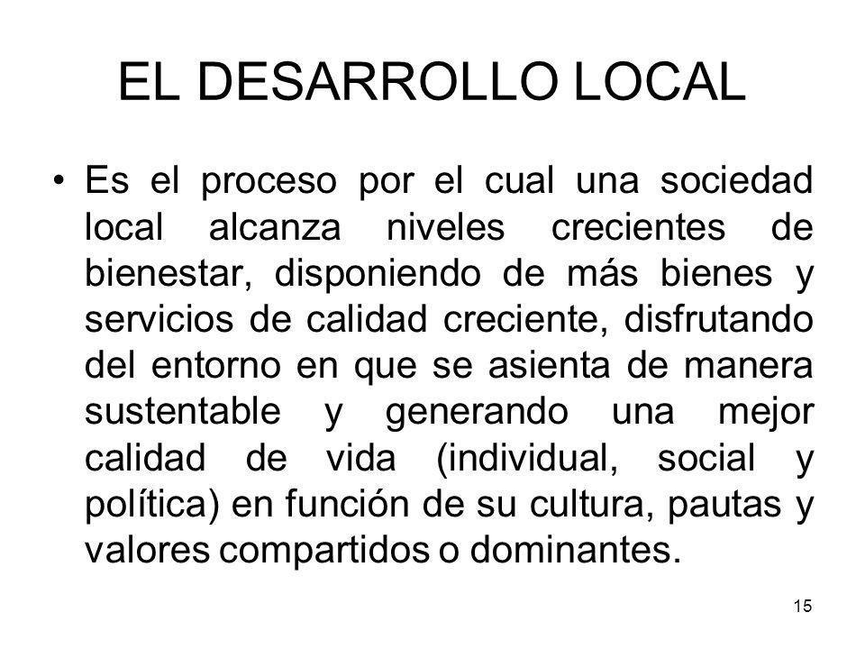 EL DESARROLLO LOCAL