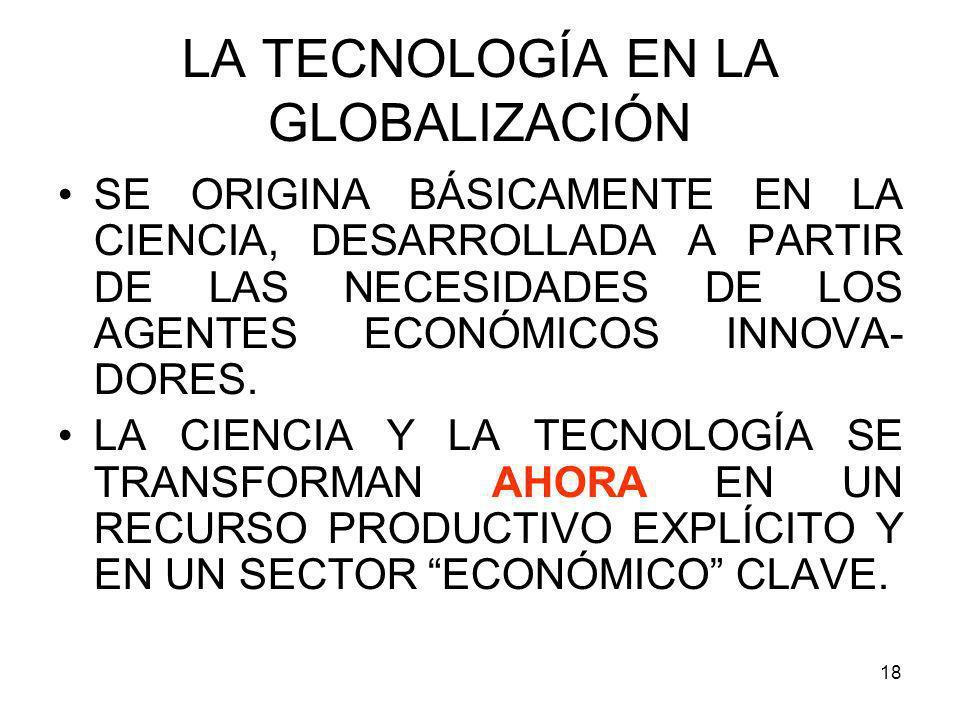 LA TECNOLOGÍA EN LA GLOBALIZACIÓN