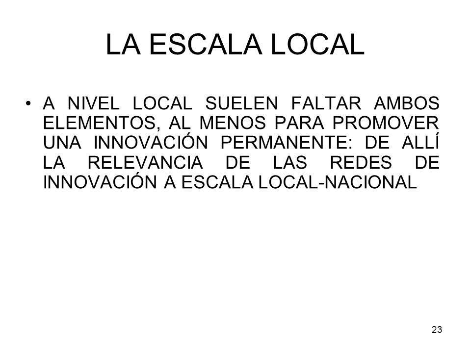 LA ESCALA LOCAL