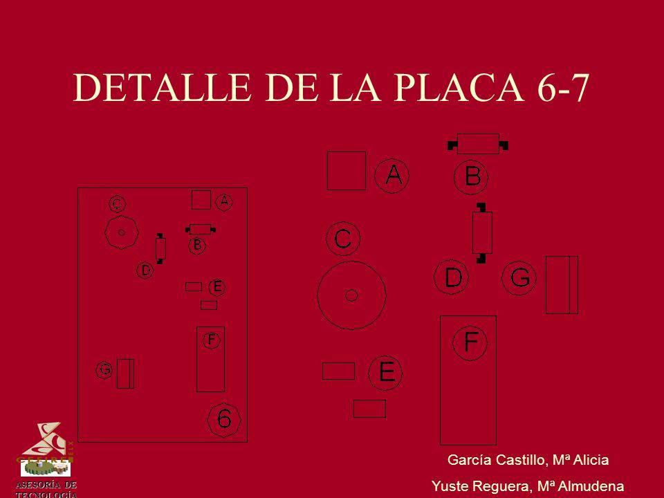 DETALLE DE LA PLACA 6-7 García Castillo, Mª Alicia