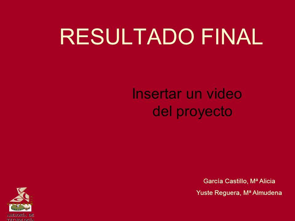 RESULTADO FINAL Insertar un video del proyecto