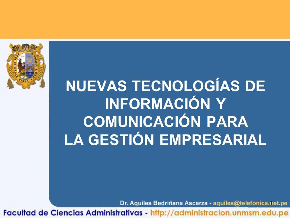 NUEVAS TECNOLOGÍAS DE INFORMACIÓN Y COMUNICACIÓN PARA LA GESTIÓN EMPRESARIAL