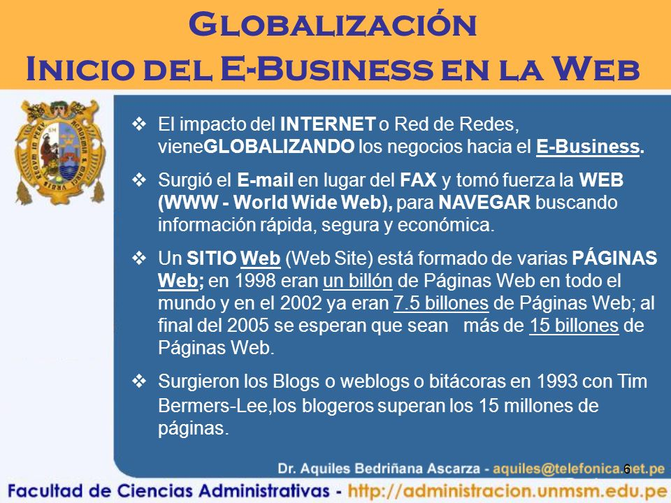 Inicio del E-Business en la Web
