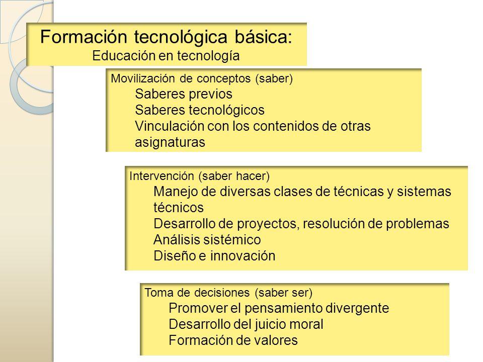 Formación tecnológica básica: