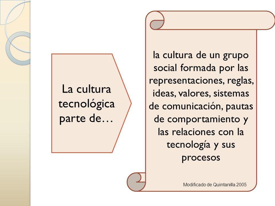 La cultura tecnológica parte de…