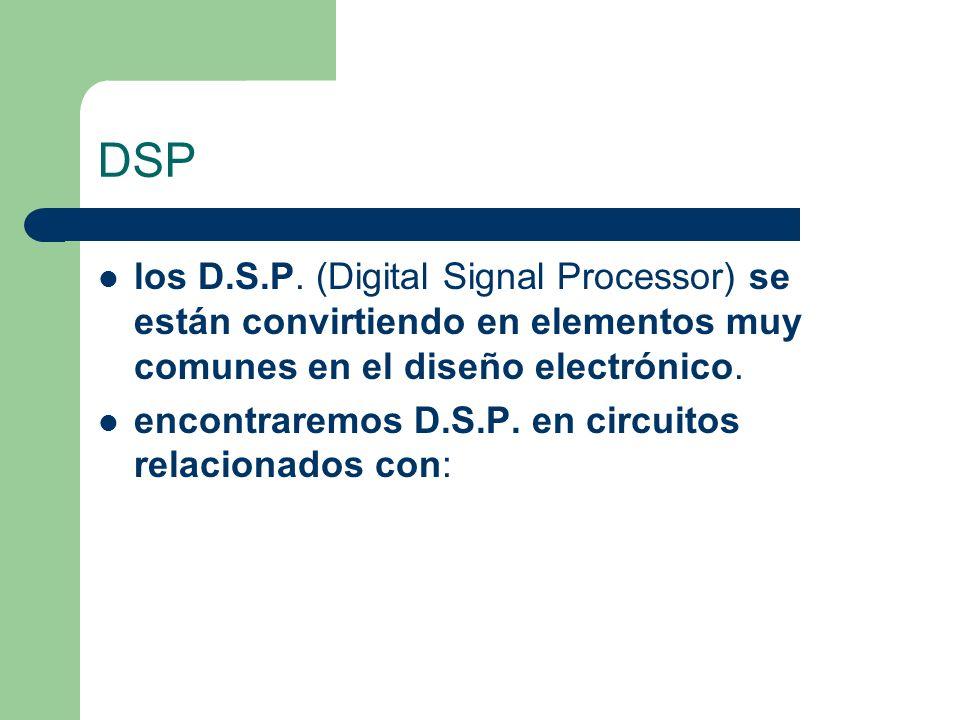 DSP los D.S.P. (Digital Signal Processor) se están convirtiendo en elementos muy comunes en el diseño electrónico.