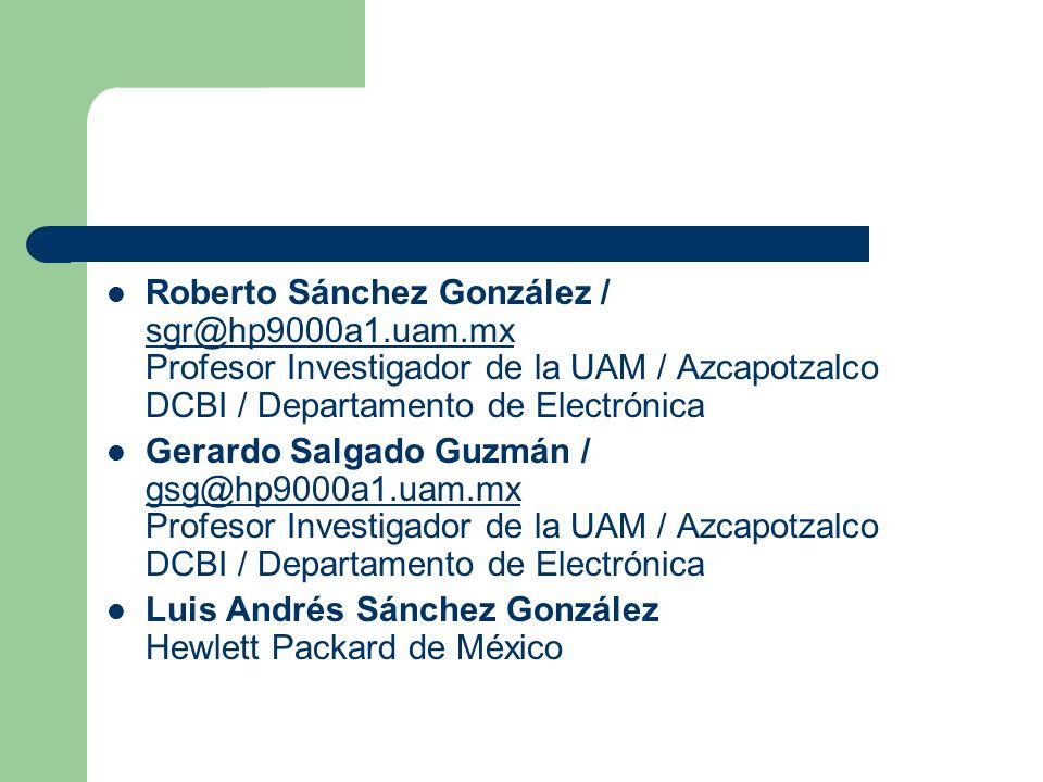 Roberto Sánchez González / sgr@hp9000a1. uam