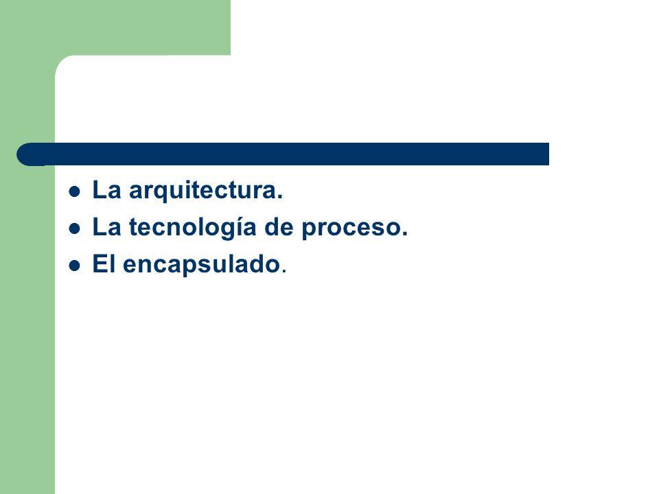 La arquitectura. La tecnología de proceso. El encapsulado.