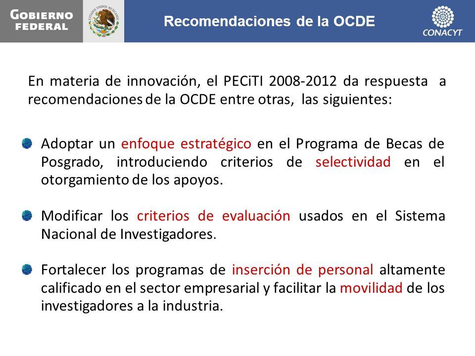 Recomendaciones de la OCDE