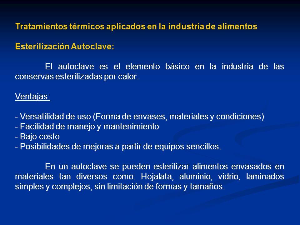 Tratamientos térmicos aplicados en la industria de alimentos