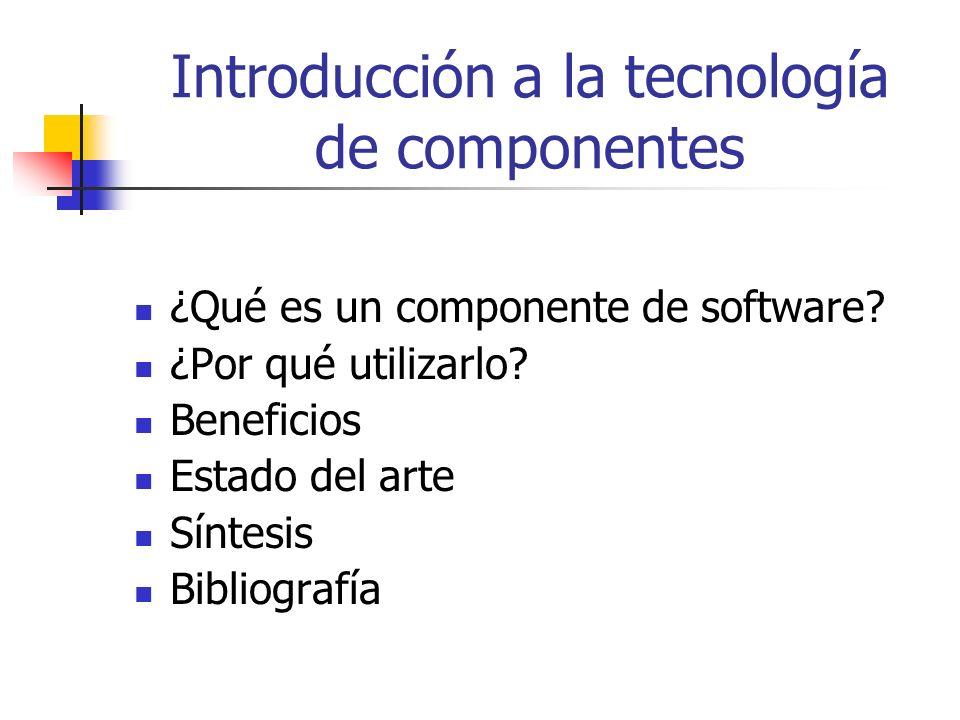 Introducción a la tecnología de componentes