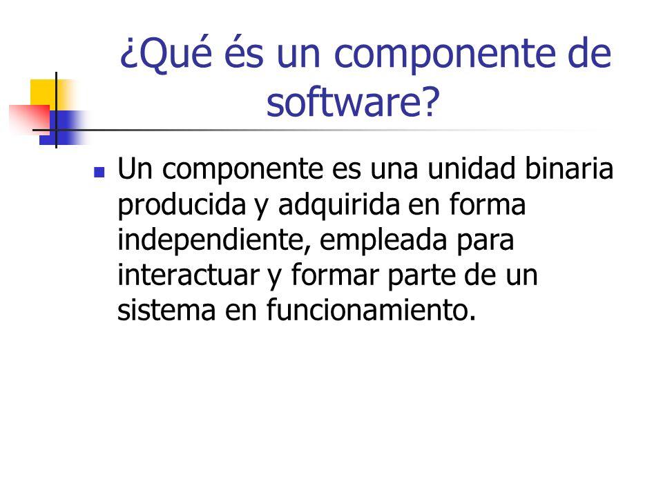 ¿Qué és un componente de software