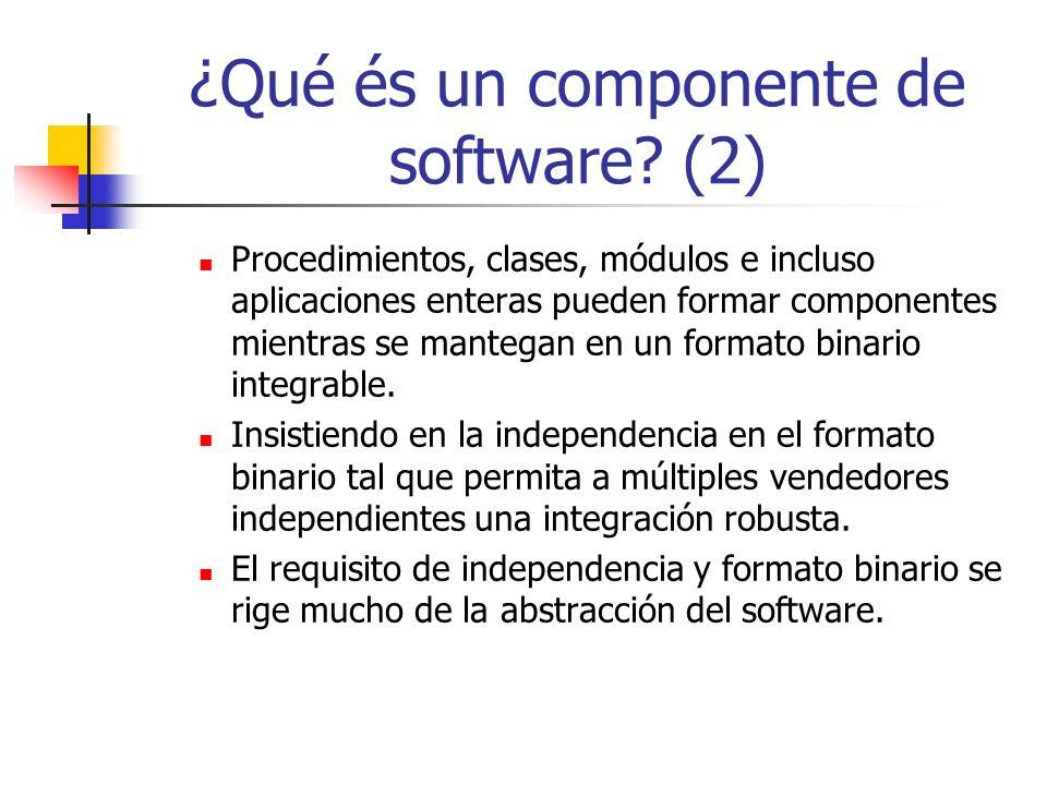 ¿Qué és un componente de software (2)