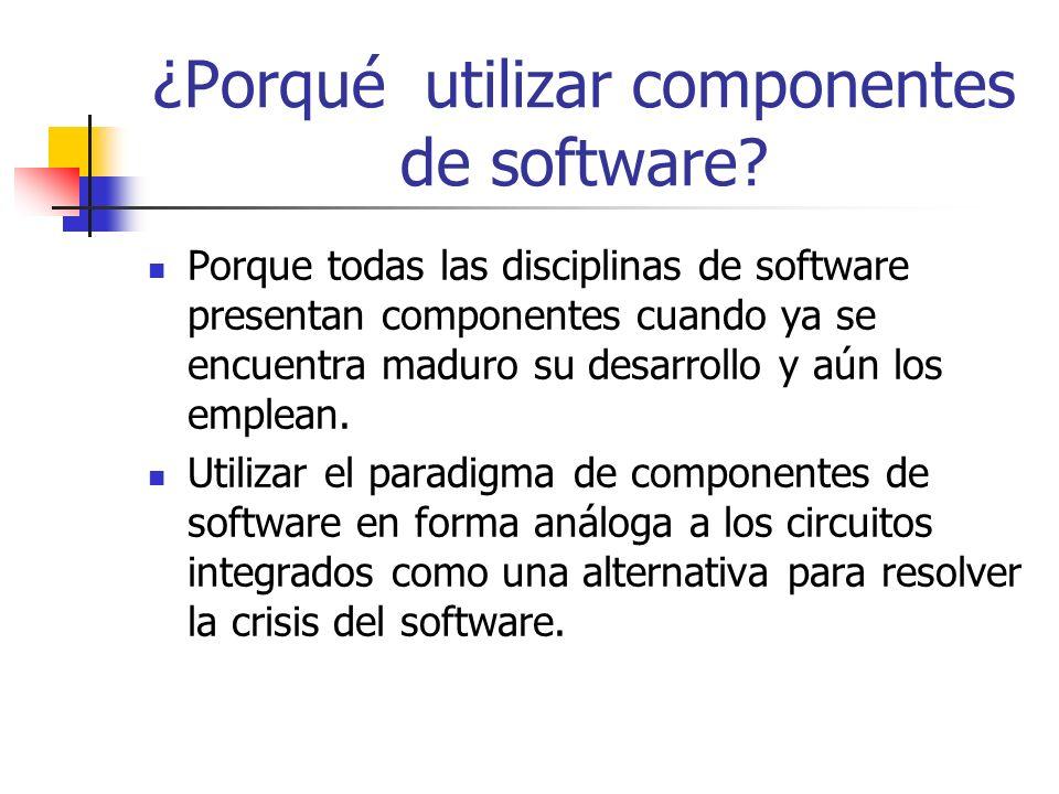 ¿Porqué utilizar componentes de software
