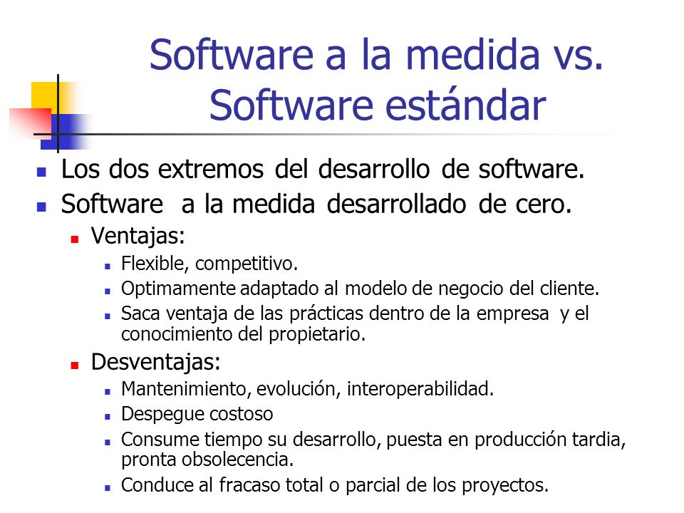 Software a la medida vs. Software estándar