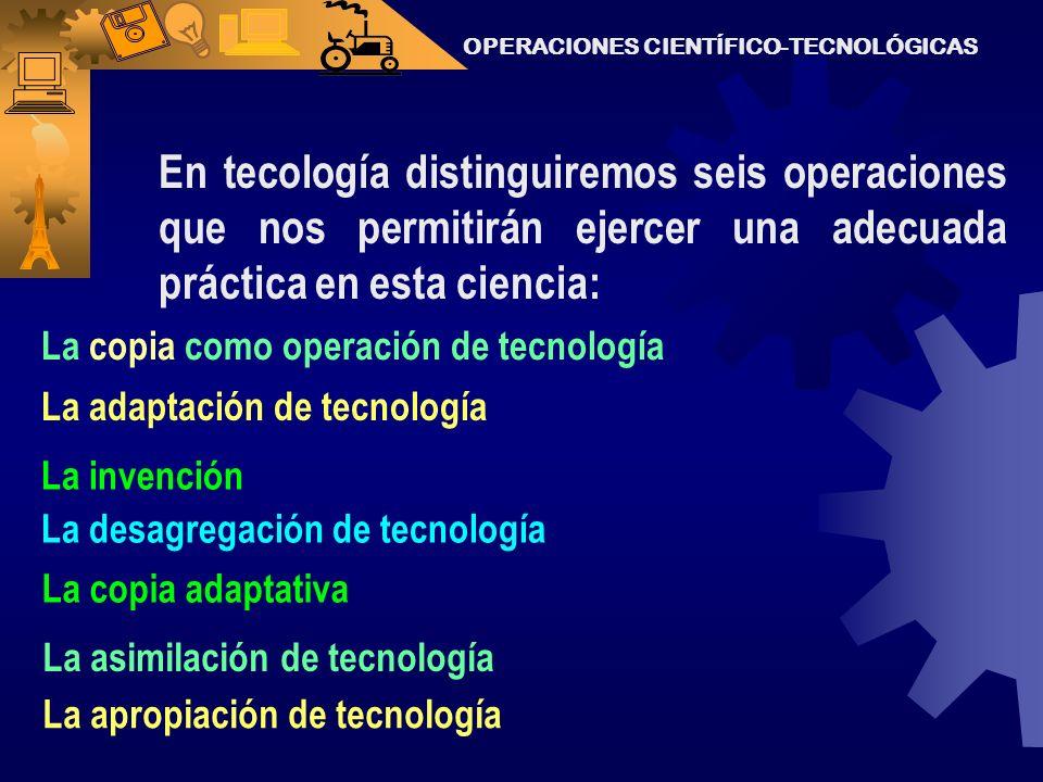 OPERACIONES CIENTÍFICO-TECNOLÓGICAS