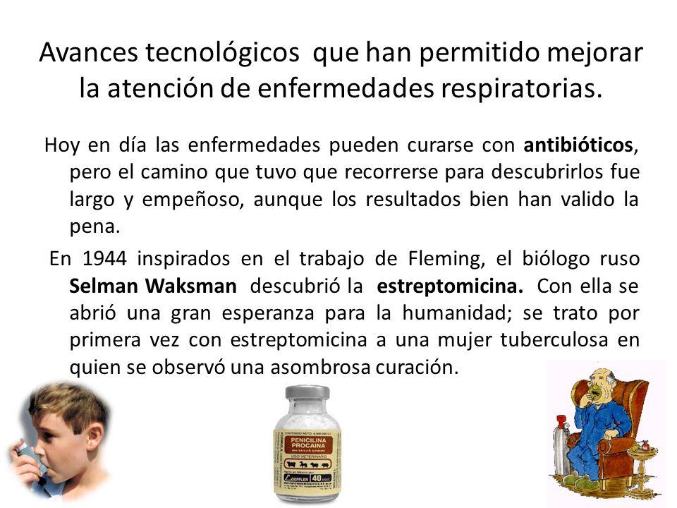 Avances tecnológicos que han permitido mejorar la atención de enfermedades respiratorias.