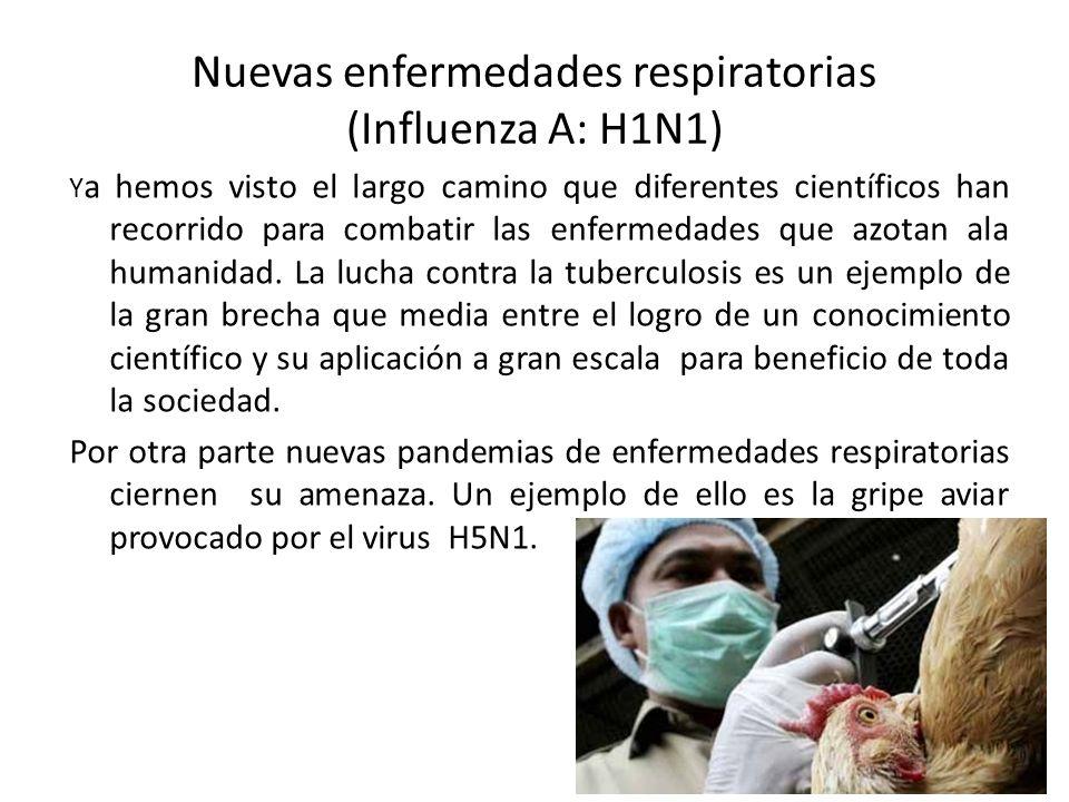Nuevas enfermedades respiratorias (Influenza A: H1N1)