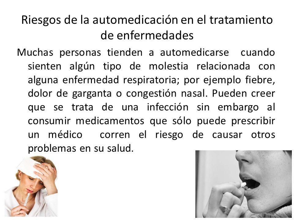 Riesgos de la automedicación en el tratamiento de enfermedades