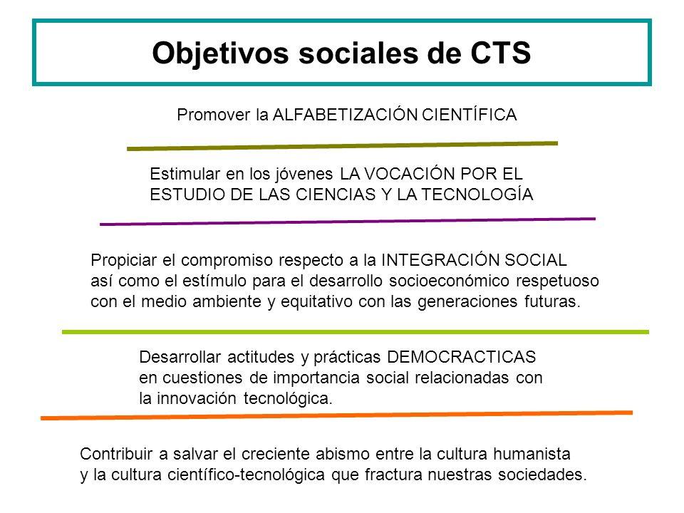Objetivos sociales de CTS