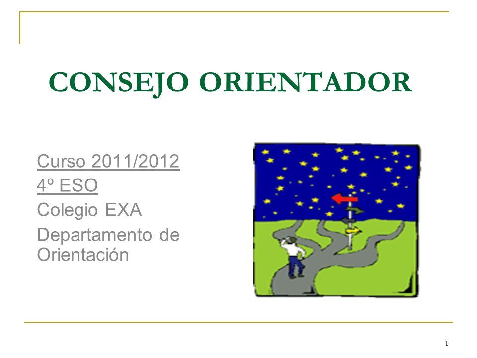 Curso 2011/2012 4º ESO Colegio EXA Departamento de Orientación