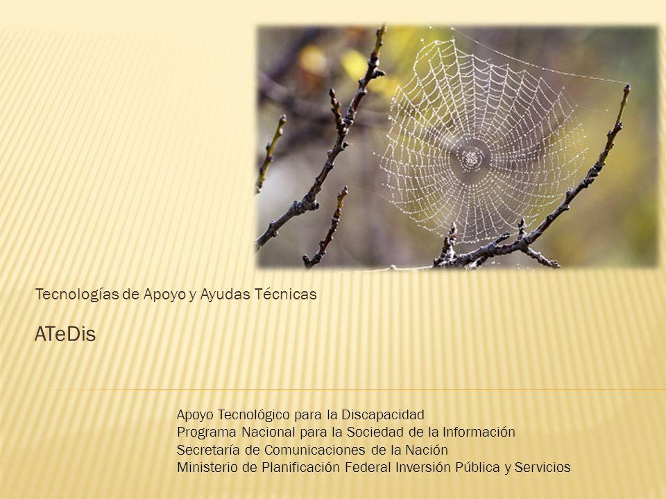 ATeDis Tecnologías de Apoyo y Ayudas Técnicas