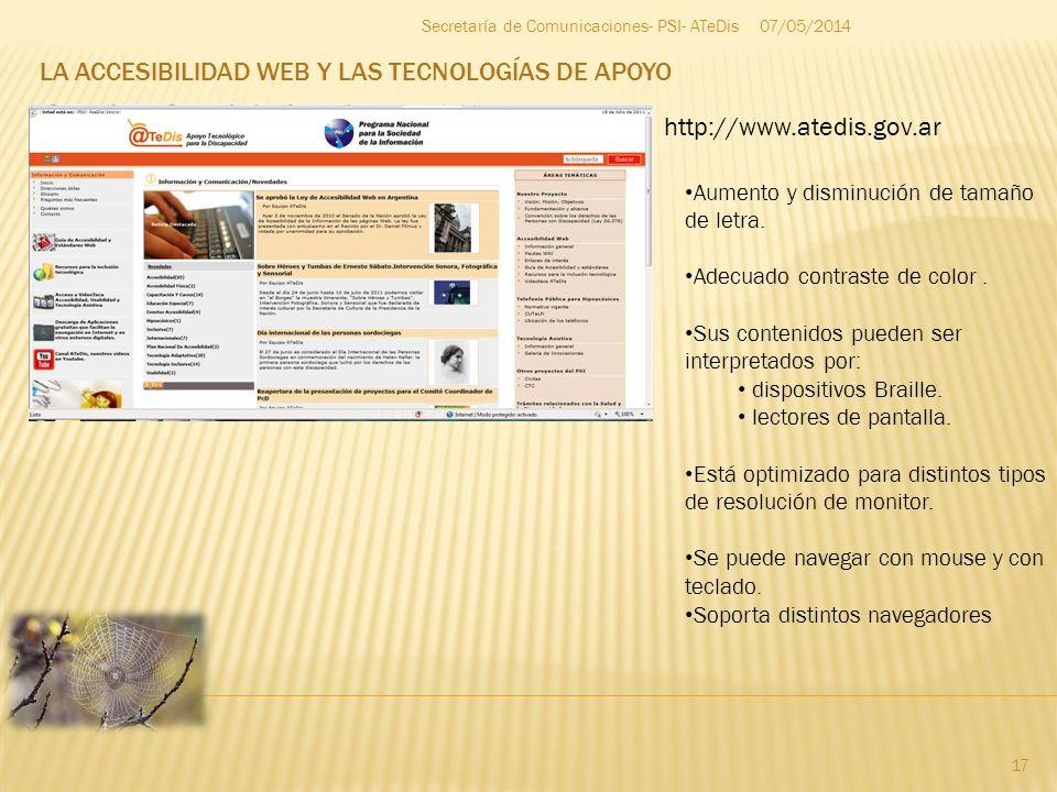 La accesibilidad web y las Tecnologías de Apoyo