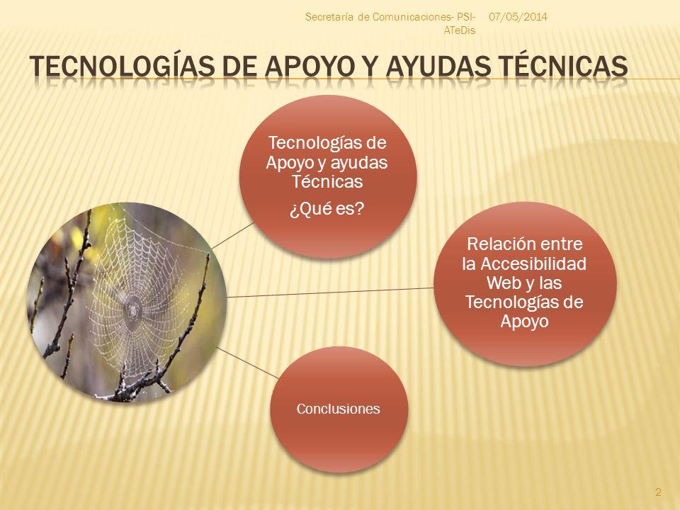 Tecnologías de Apoyo y AYudas Técnicas