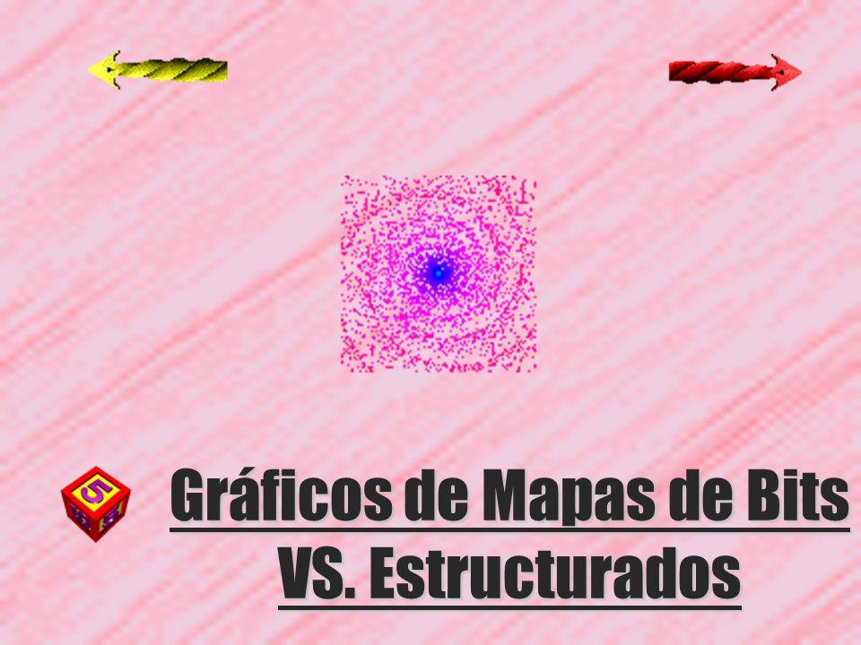 Gráficos de Mapas de Bits VS. Estructurados