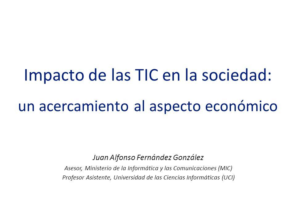 Impacto de las TIC en la sociedad: un acercamiento al aspecto económico