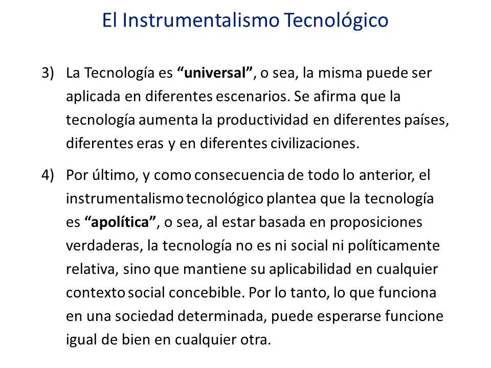 El Instrumentalismo Tecnológico