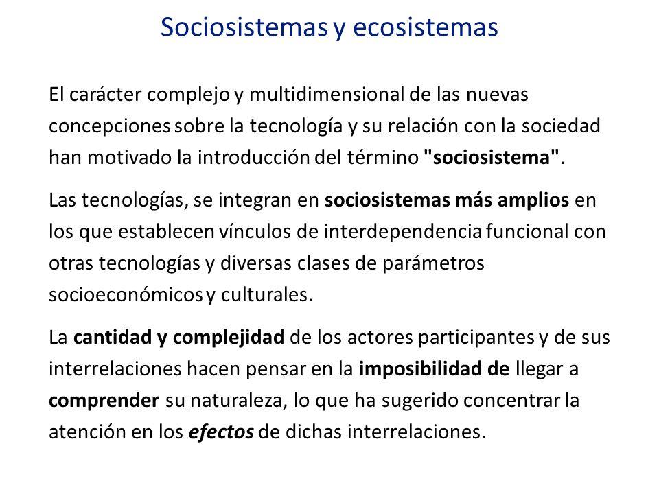 Sociosistemas y ecosistemas